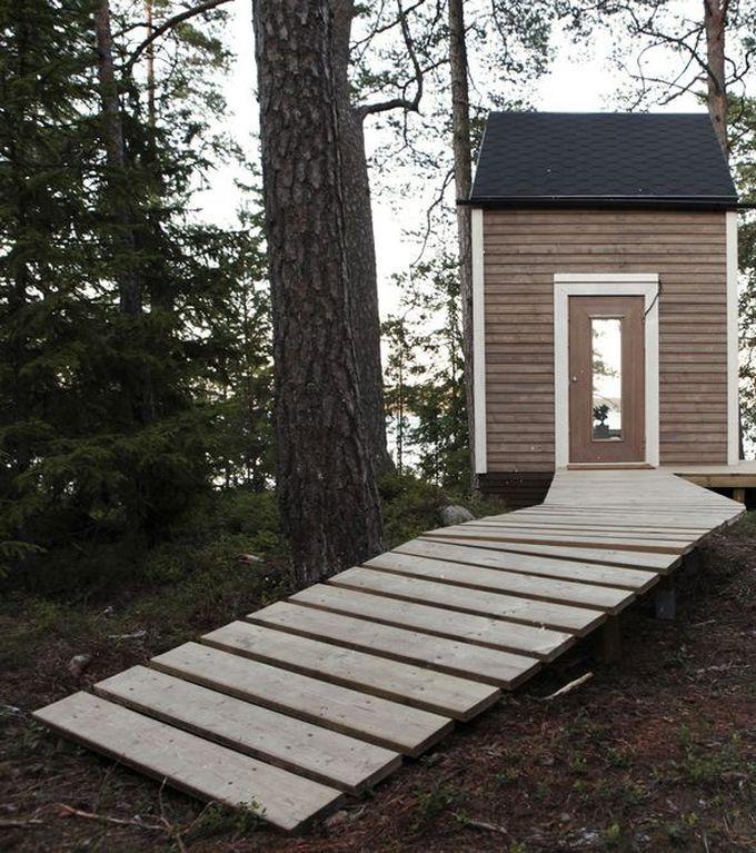 cabane dans les bois entrée chalet bois porte blog déco clem around the corner