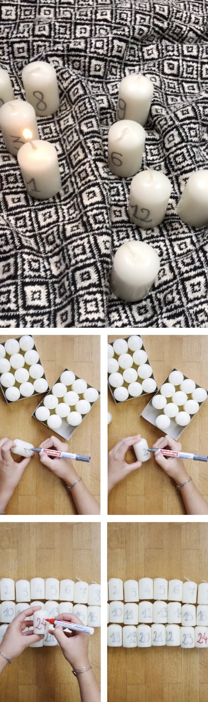 calendrier avent diy bougies décoration blog déco clem around the corner