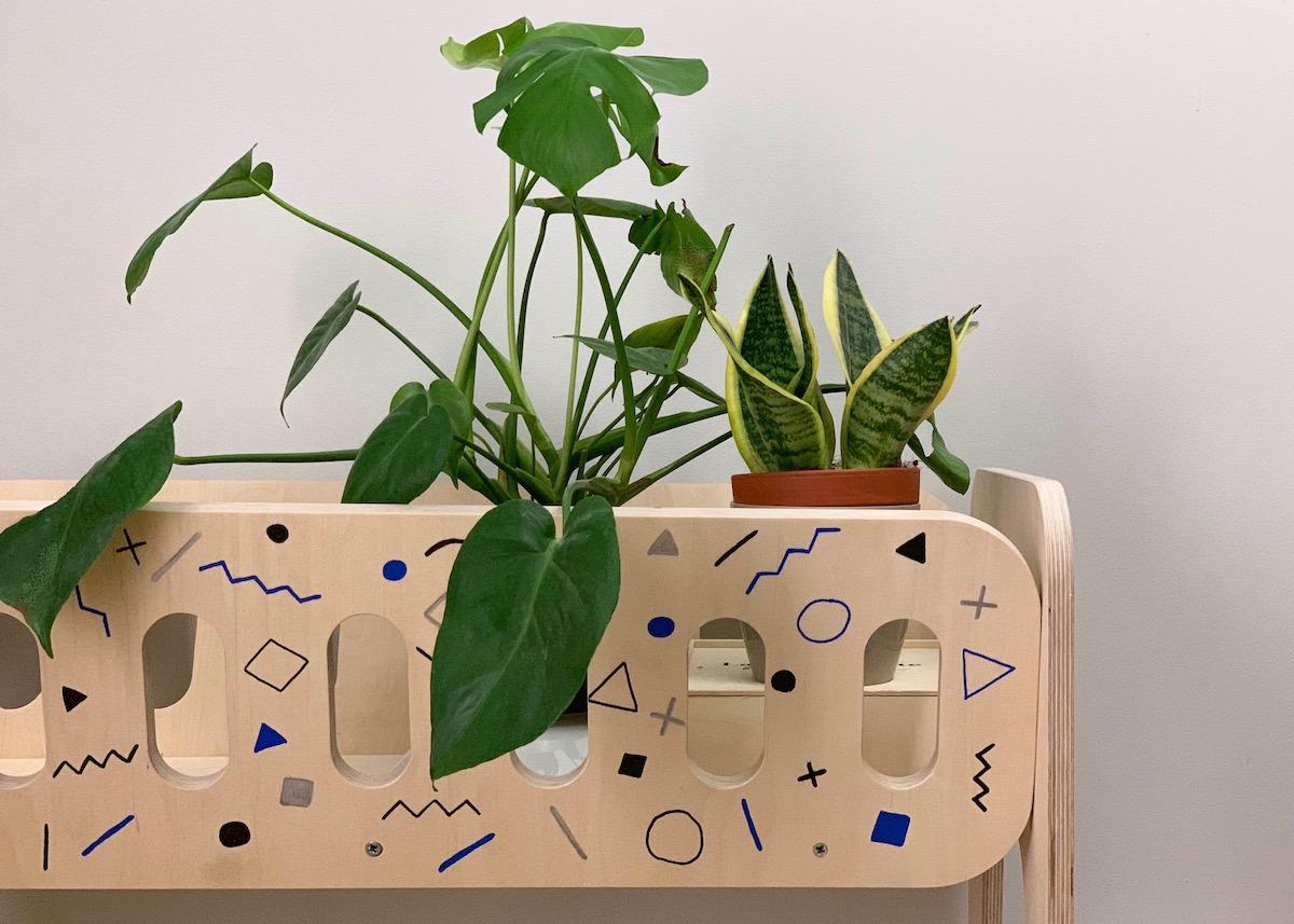 jardinière scandinave blomkal bois motif memphis diy personnalisation blog déco clem around the corner
