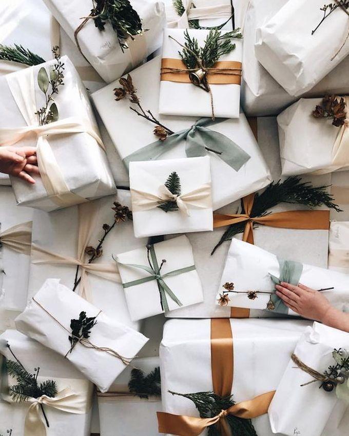 noël écologique décoration papier cadeau emballage blanc or naturel blog déco clem around the corner
