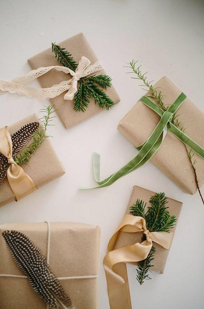 noël écologique décoration papier cadeau kraft marron naturel idée originale blog déco clem around the corner