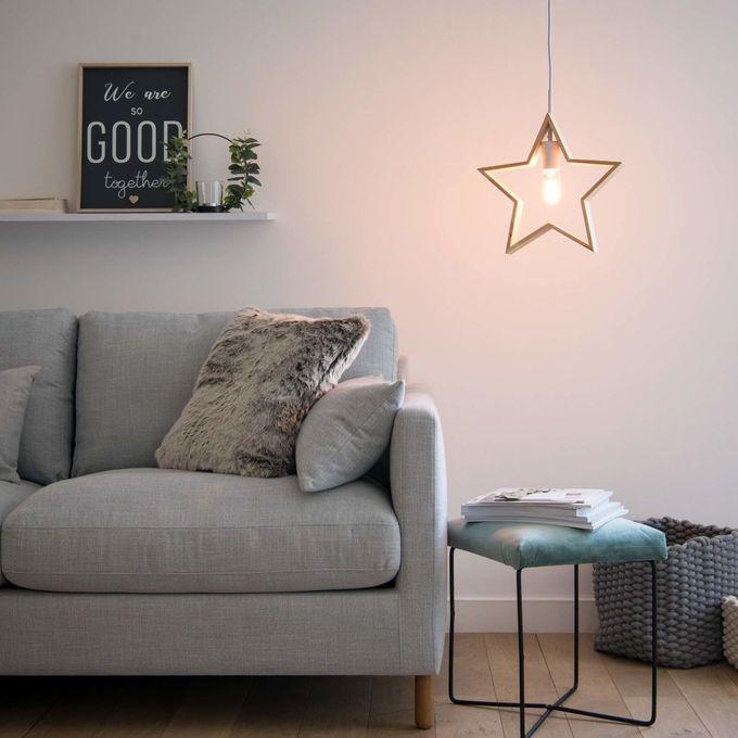 passer son appartement en mode hiver lampe suspension étoile blog déco clem around the corner
