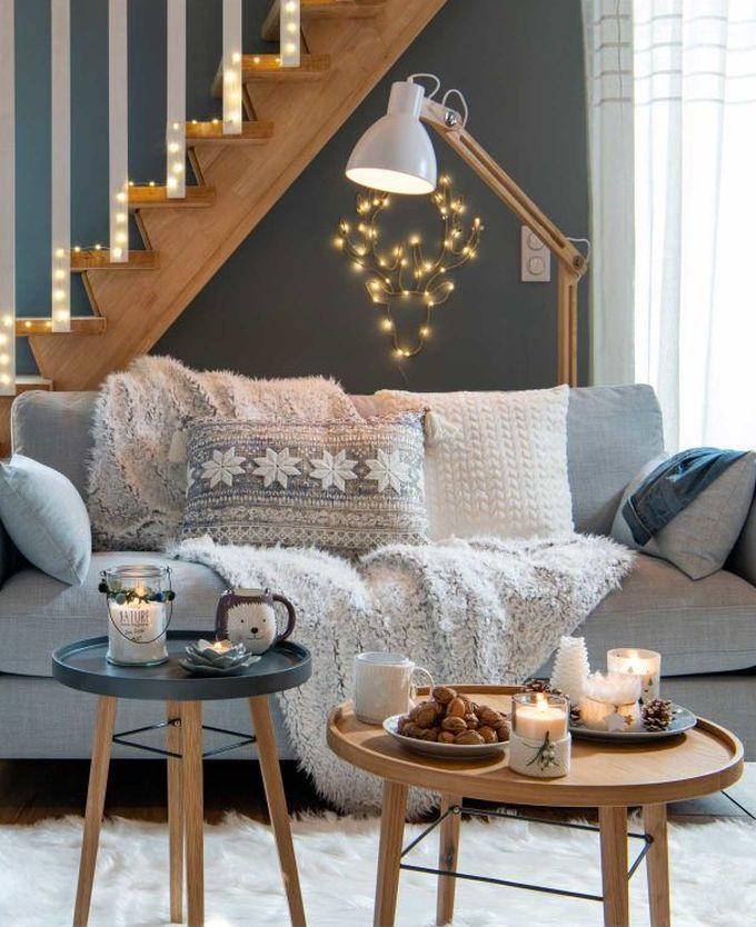 passer son appartement en mode hiver table basse bois lot trois gris blanc blog déco clem around the corner