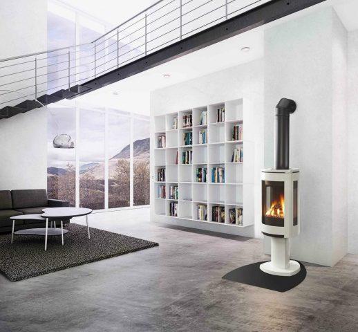 poêle gaz loft salon design béton avis - blog déco - clem around the corner