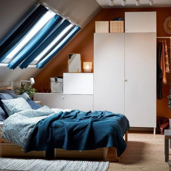 optimiser le rangement ikea chambre à coucher platsa garde robe blanc gris clair blog déco clem around the corner