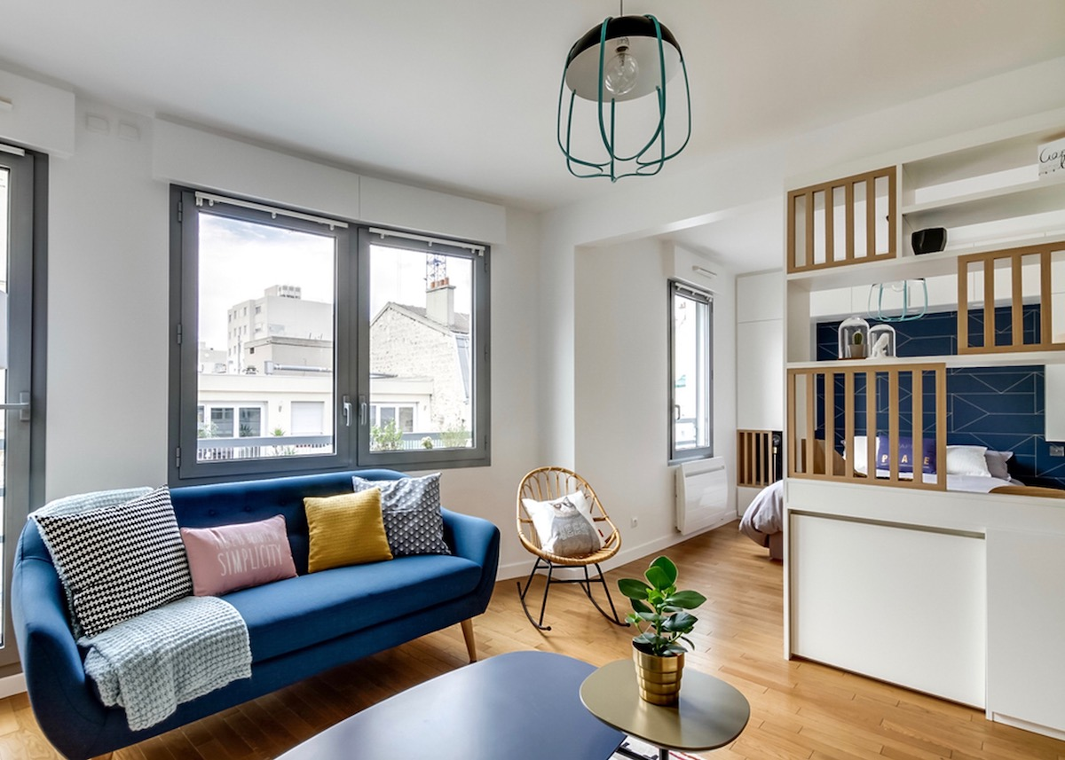 studio transformé en 2 pièces idée astuce architecte - blog déco - clem around the corner