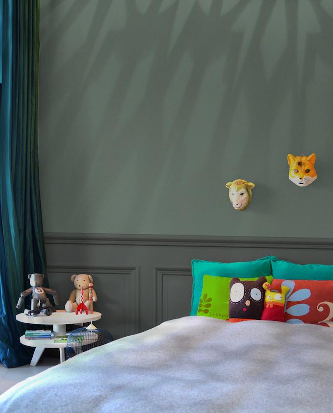 Peinture écologique avis Pure & Paint chambre enfant vert kaki - blog deco - clem around the corner