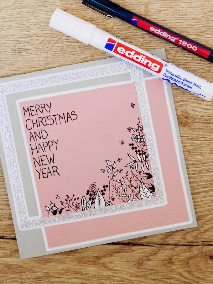 carte de voeux fin d'année fleurs design stylo rose blog déco clem around the corner