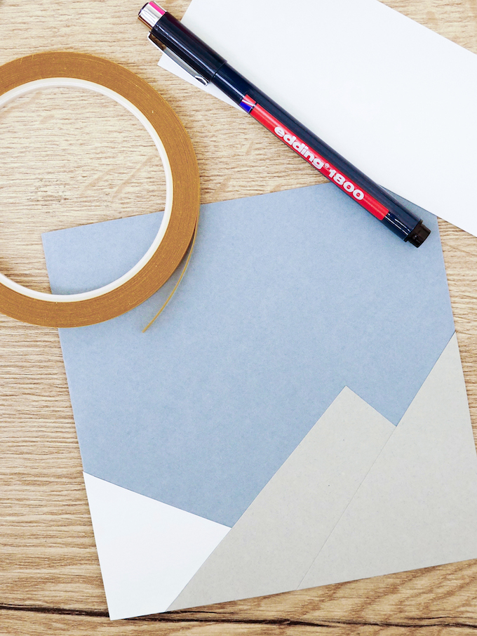 carte de voeux fin d'année neige montagne papier blog déco clem around the corner