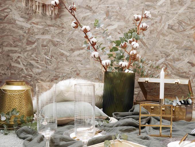diner romantique de Noël vivre slow life entre amis couple déco osb - blog décoration - Clem around the corner