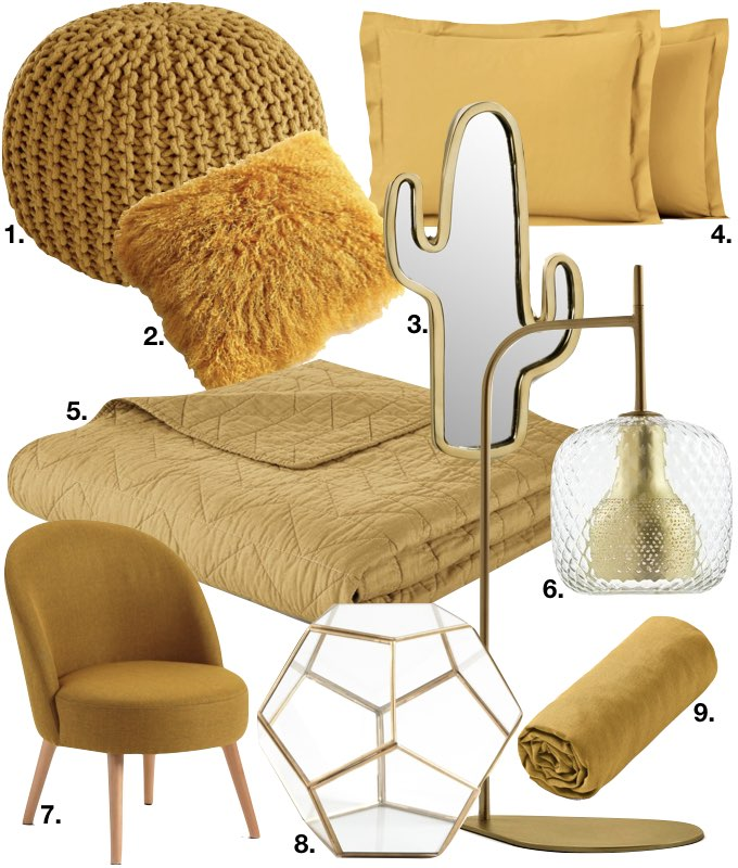 déco couleur jaune moutarde chambre blog déco clem around the corner