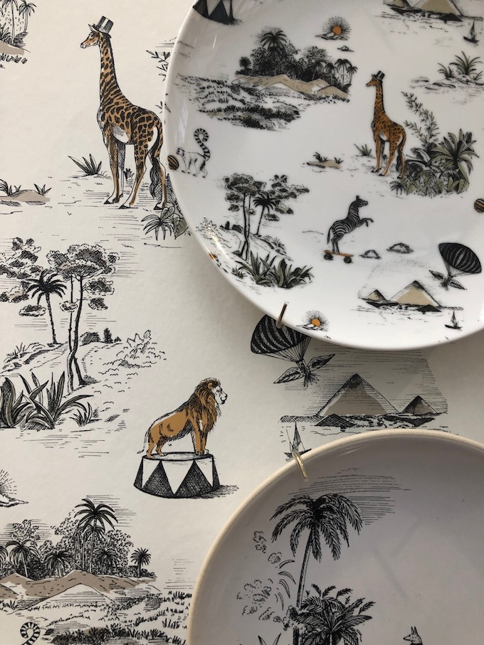 monoprix déco 2019 printemps été animaux savane safari noir or blog déco clem around the corner