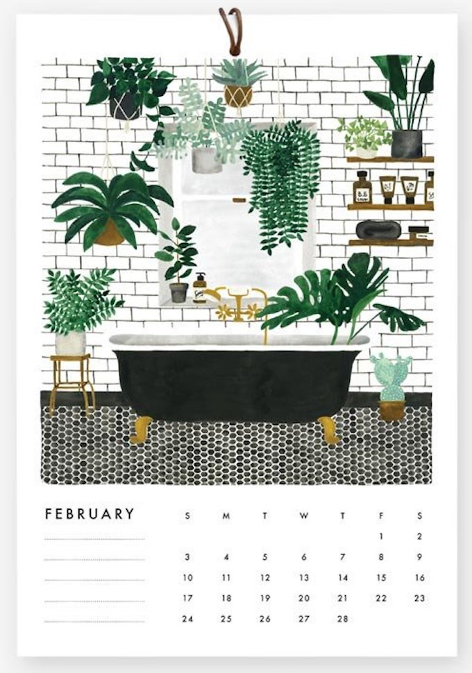 calendrier 2019 original décoration urban jungle blog déco clem around the corner