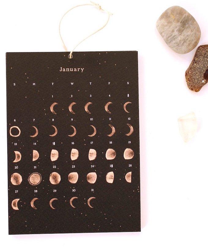 calendrier 2019 original janvier phases lune blog déco clem around the corner