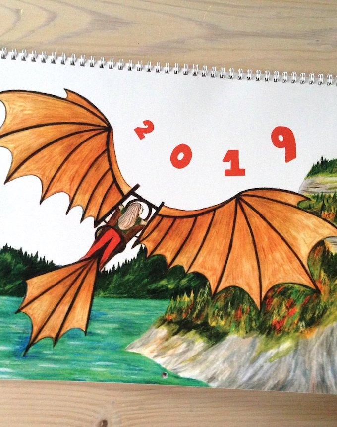 calendrier 2019 original enfant dessin blog déco clem around the corner