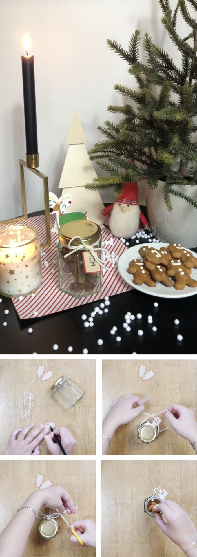 recycler des pots en verre biscuits porte nom table blog déco clem around the corner
