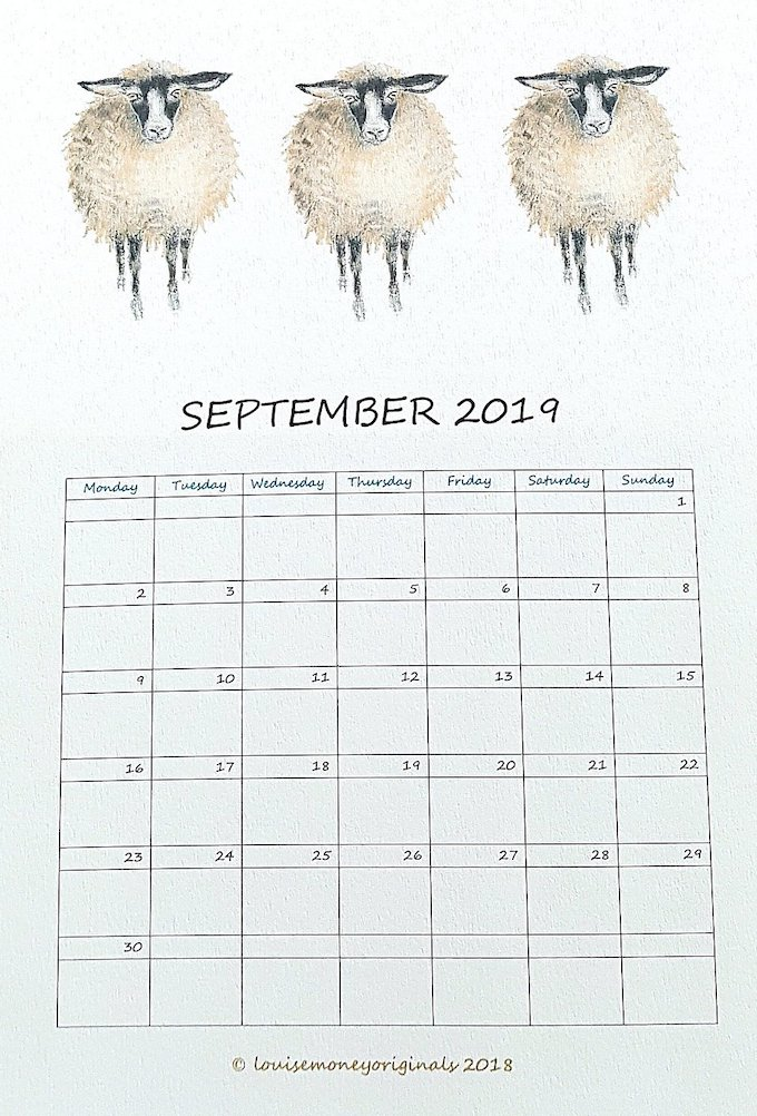calendrier 2019 original illustration animaux enfant blog déco clem around the corner
