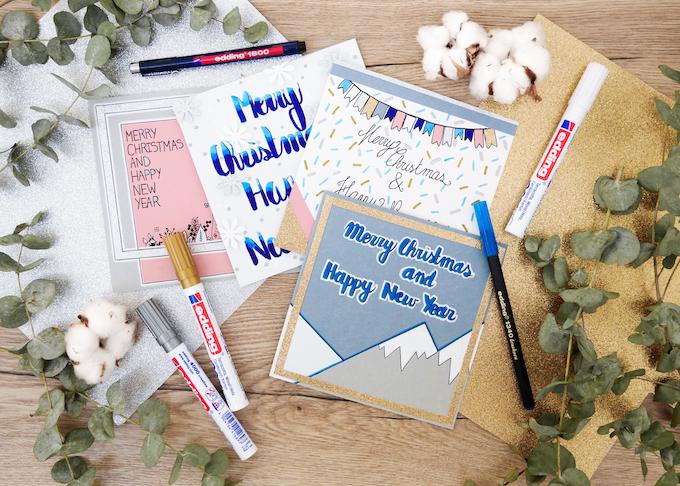 carte de voeux fin d'année idées originales blog déco clem around the corner