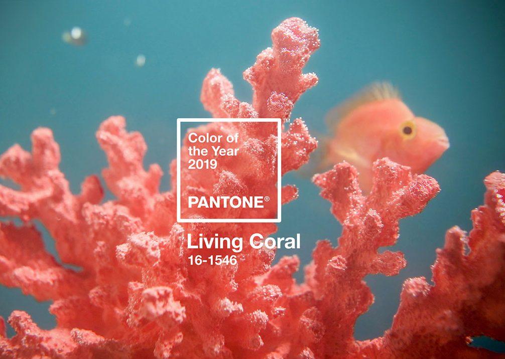 couleur année pantone 2019 living coral décoration intérieure - blog déco - clem around the corner