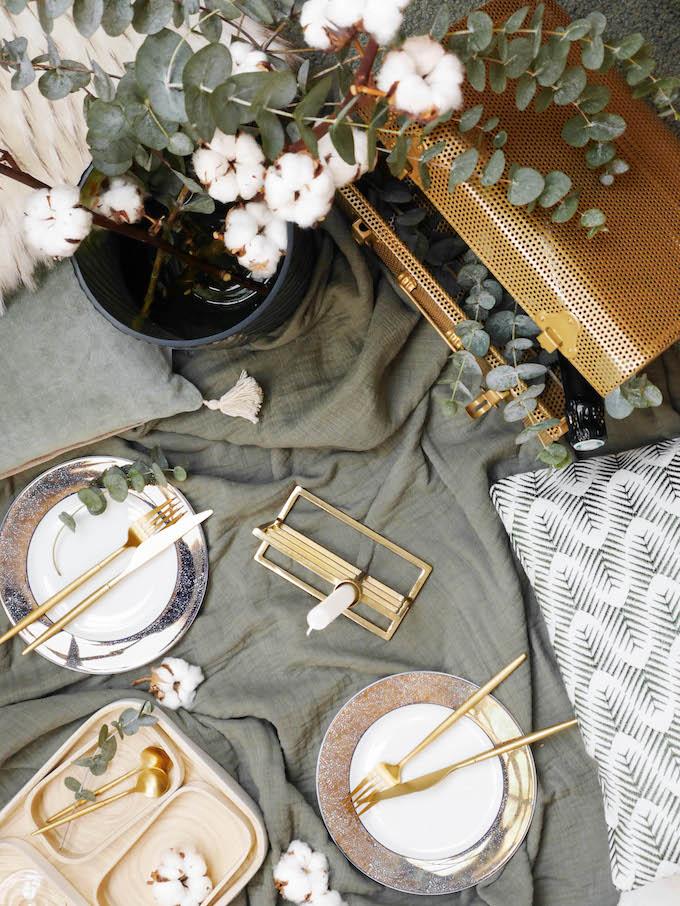 diner romantique de Noël pique-nique chic hiver - blog déco - Clem around the corner