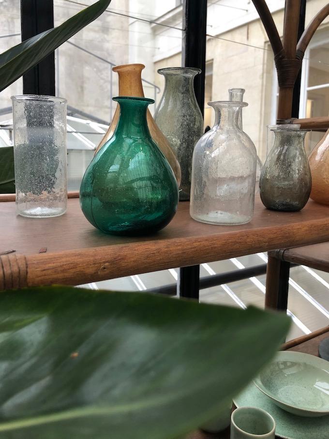 monoprix déco 2019 printemps été fiole vert bouteille verre vase soliflore blog déco clem around the corner