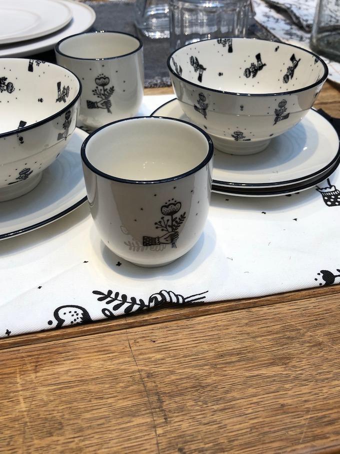 monoprix déco 2019 printemps été noir et blanc design décoration vaisselle blog déco clem around the corner