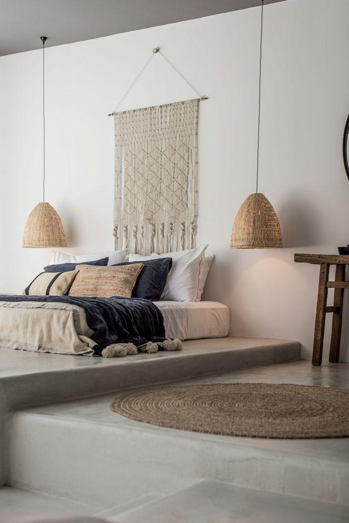 tapis rond nature chambre marron - blog déco - clem around the corner