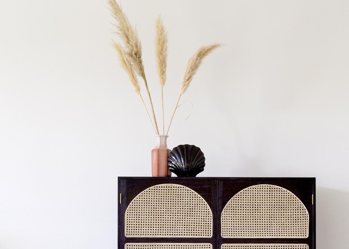 l'herbe de la pampa tendance déco végétale vase meuble cannage tendance - blog déco - clem around the corner