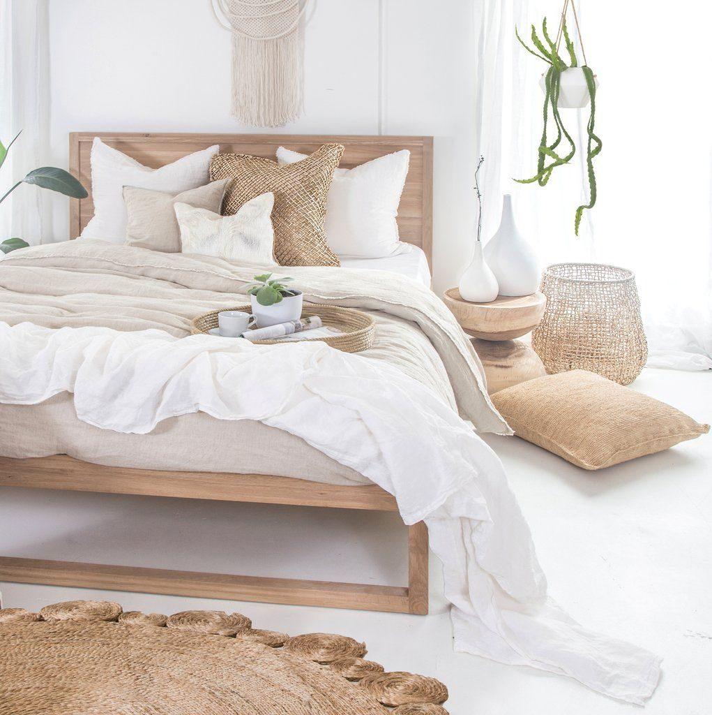 tapis rond chambre osier tressé blanc - blog déco - clem around the corner