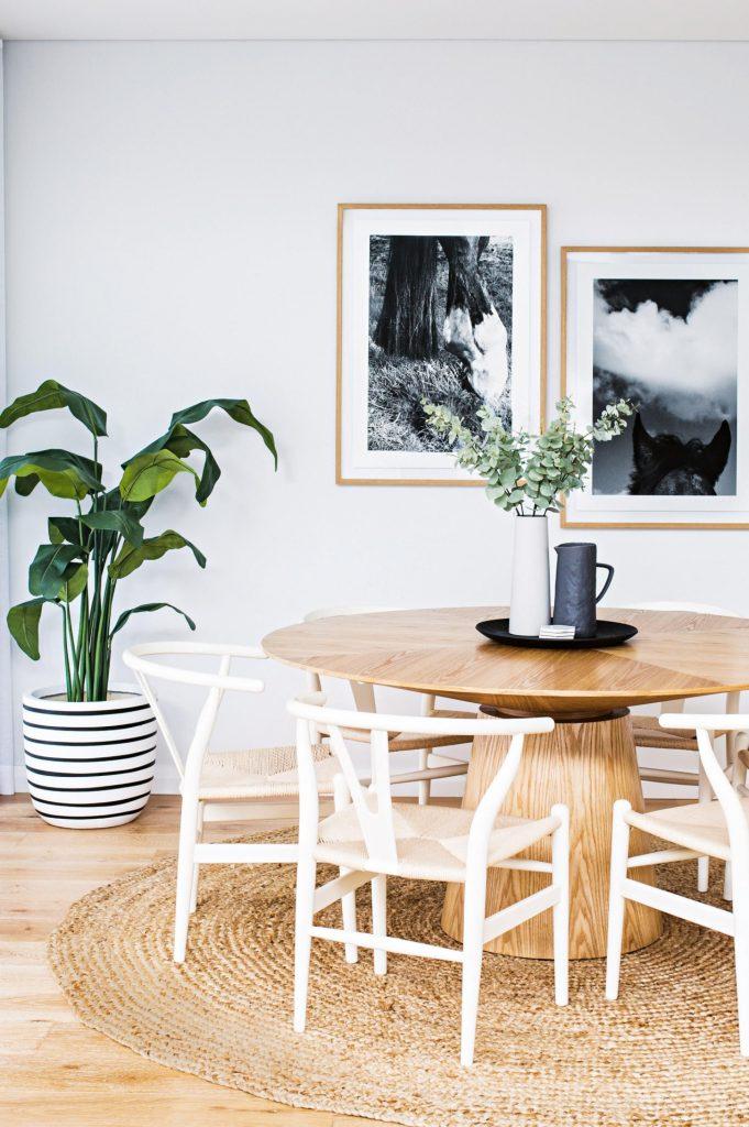 tapis rond blanc nature lumineux salon slow living - blog déco - clem around the corner