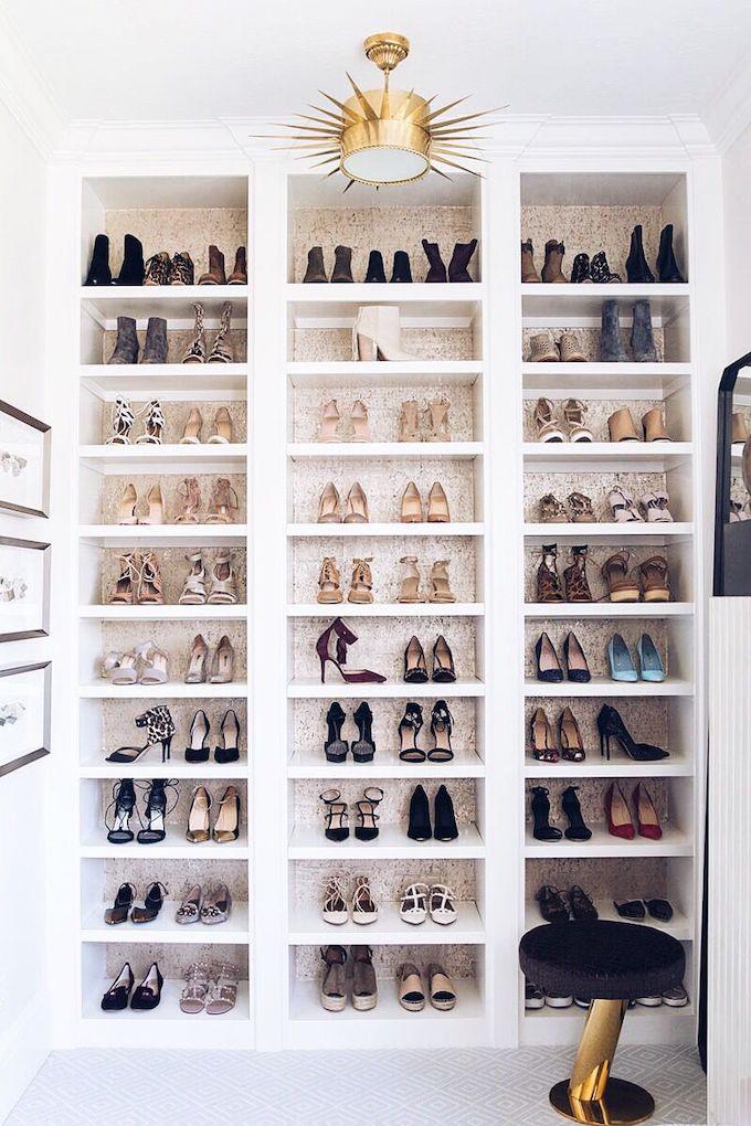 astuces pour ranger les chaussures dressing glamour - blog déco - clem around the corner