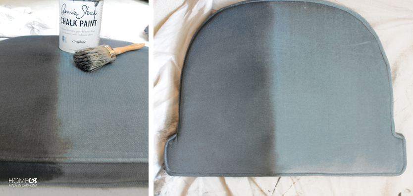 DIY chaise assise grise - blog déco - clem around the corner