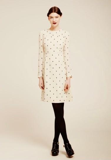 style rétro robe travail pois noir blanc - blog déco - clem around the corner