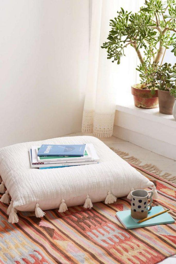coussin de sol style bohème boho chic - blog deco - clem around the corner