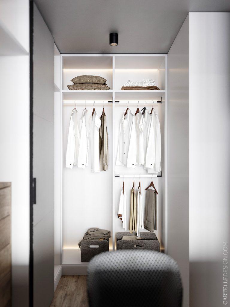 studio étudiant salle de bain penderie femme - blog déco - clem around the corner