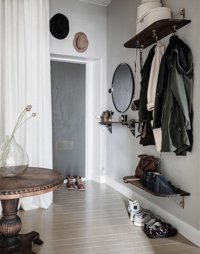 ambiance rustique hall entrée meuble bois - blog déco - clem around the corner