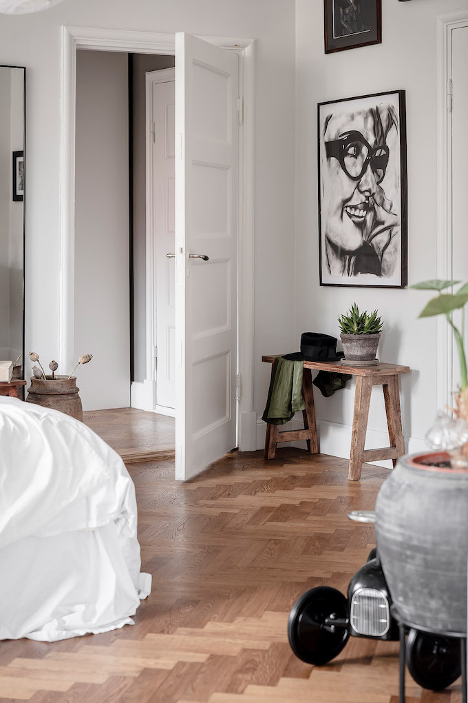ambiance rustique chambre table banc bois - blog déco - clem around the corner