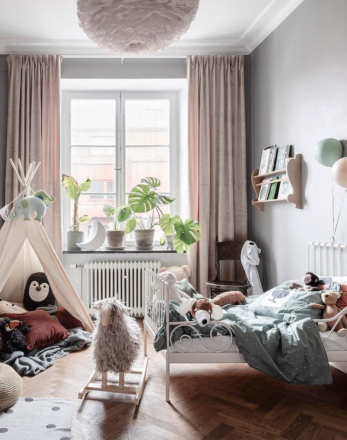 ambiance rustique chambre enfant pastel jouet - blog déco - clem around the corner