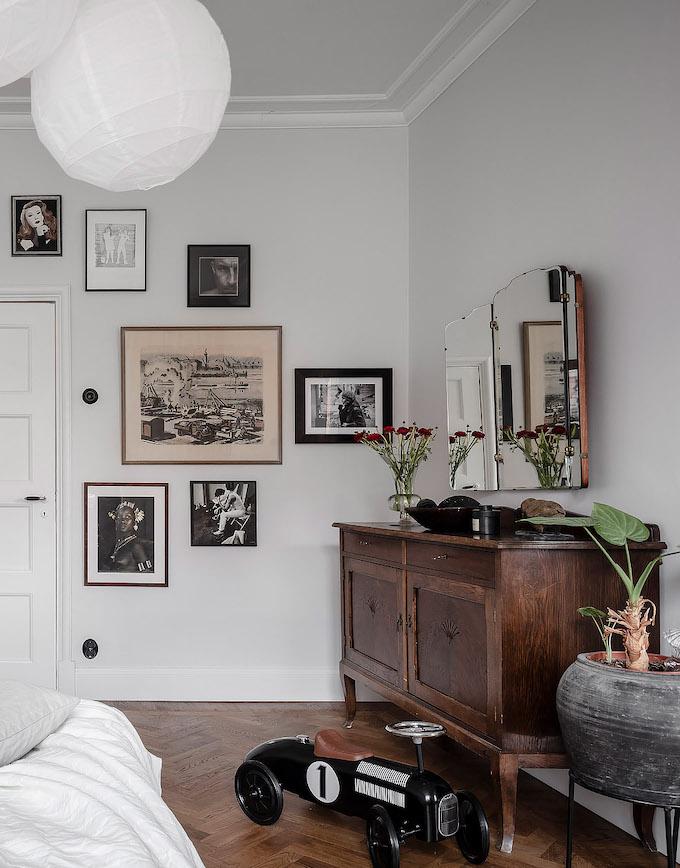 ambiance rustique chambre blanche meuble bois rustique - blog déco - clem around the corner