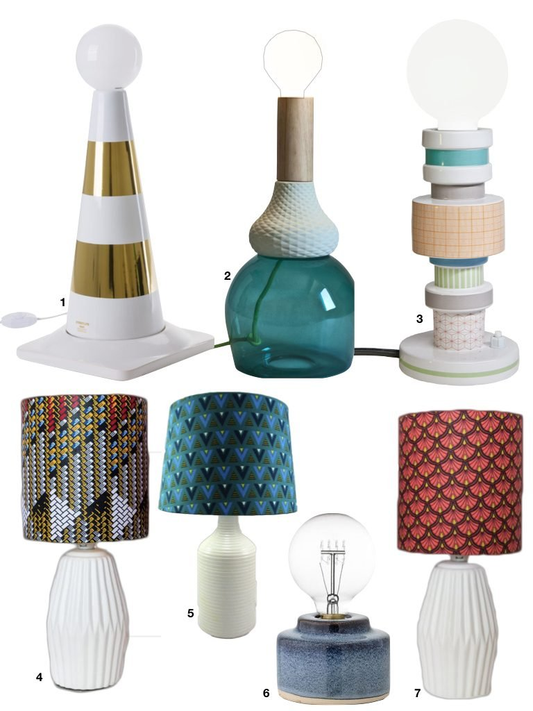 lampe sur pied en porcelaine design - blog deco - clem around the corner