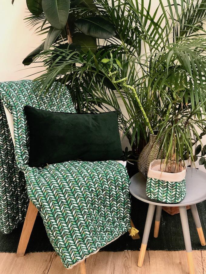 la nature inspire la deco botanic plaid année 60 60s fleur - blog décoration - clem around the corner