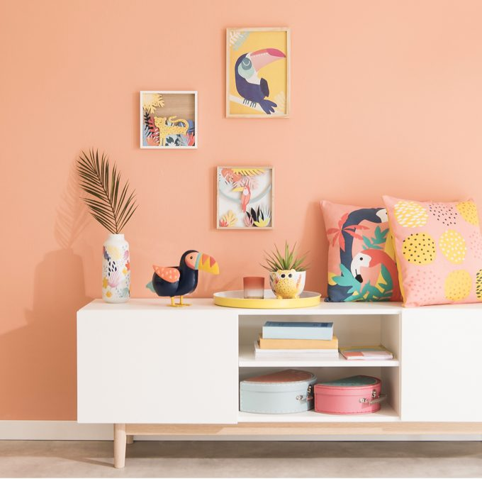 mur orange scandinave nouveau catalogue Maisons du Monde 2019 - blog déco - clem around the corner