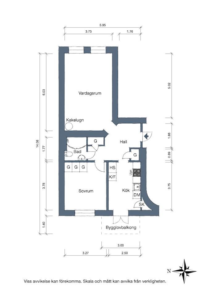 appartement suédois plan appartement - blog déco - clem around the corner