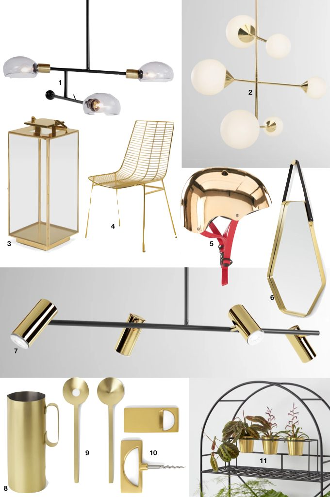 soldes d'hiver made 2019 laiton or gold tendance - blog déco - clem around the corner