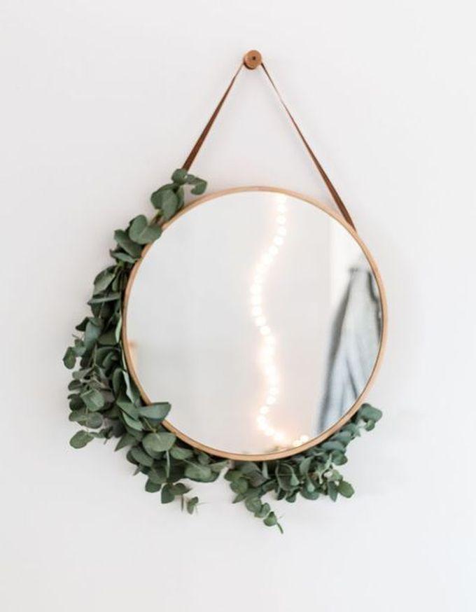 aménagement chambre à coucher feng shui miroir blanc rond -blog déco- clem around the corner
