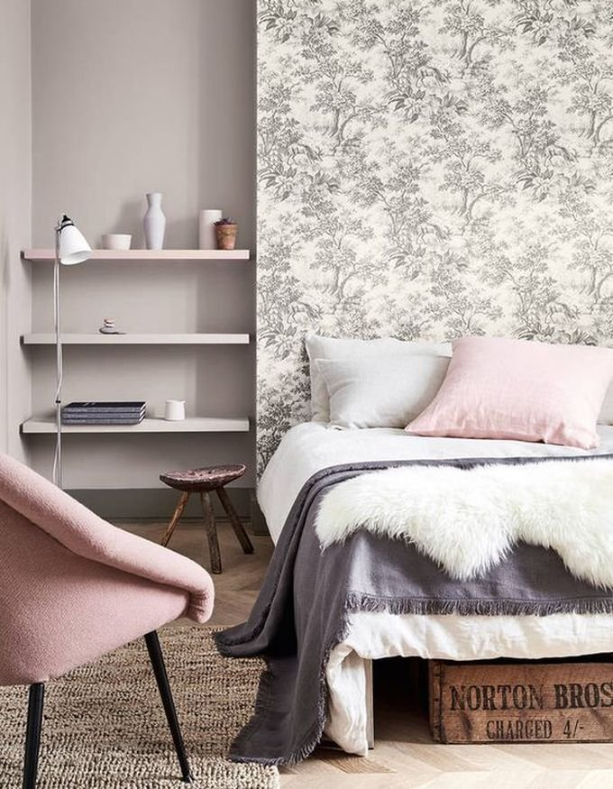 aménagement chambre à coucher feng shui chambre pastel tendance rose -blog déco- clem around the corner