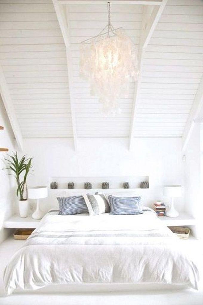 aménagement chambre à coucher feng shui chambre épurée poutre blanche -blog déco- clem around the corner