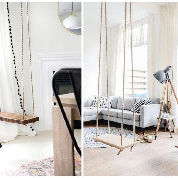 balançoire intérieure faire soi même diy salon scandinave - blog déco - clem around the corner