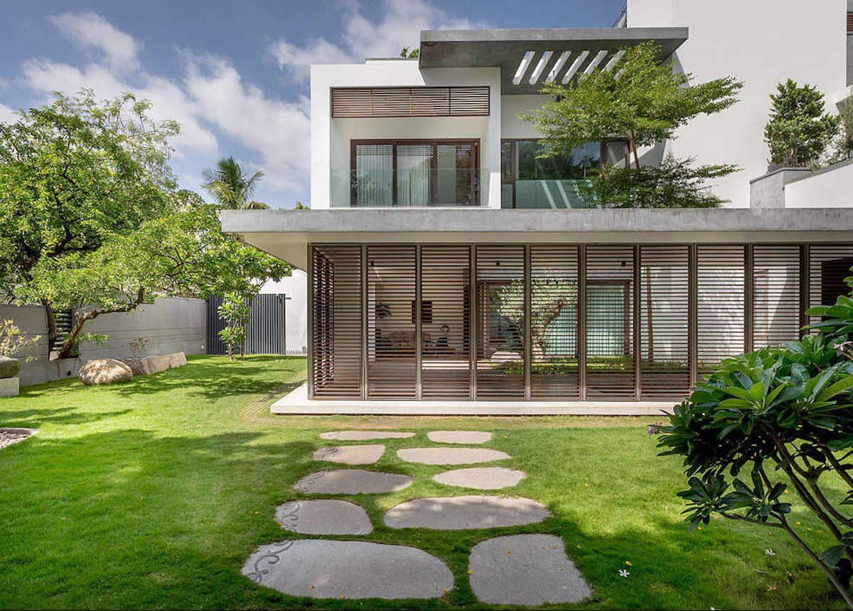 villa tropicale maison design béton verre bois - blog déco - clem around the corner