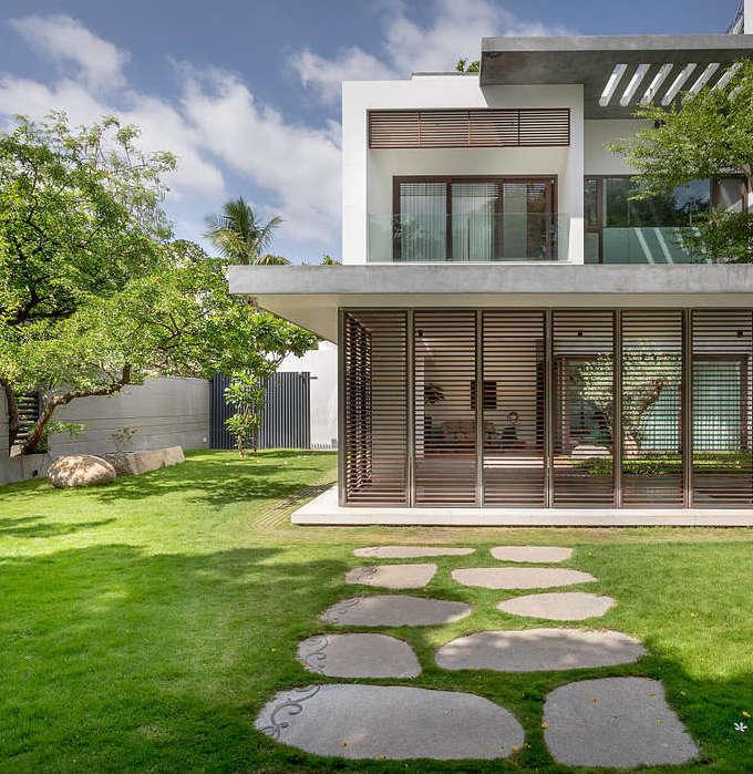 villa tropicale maison architecte - blog déco - clem around the corner